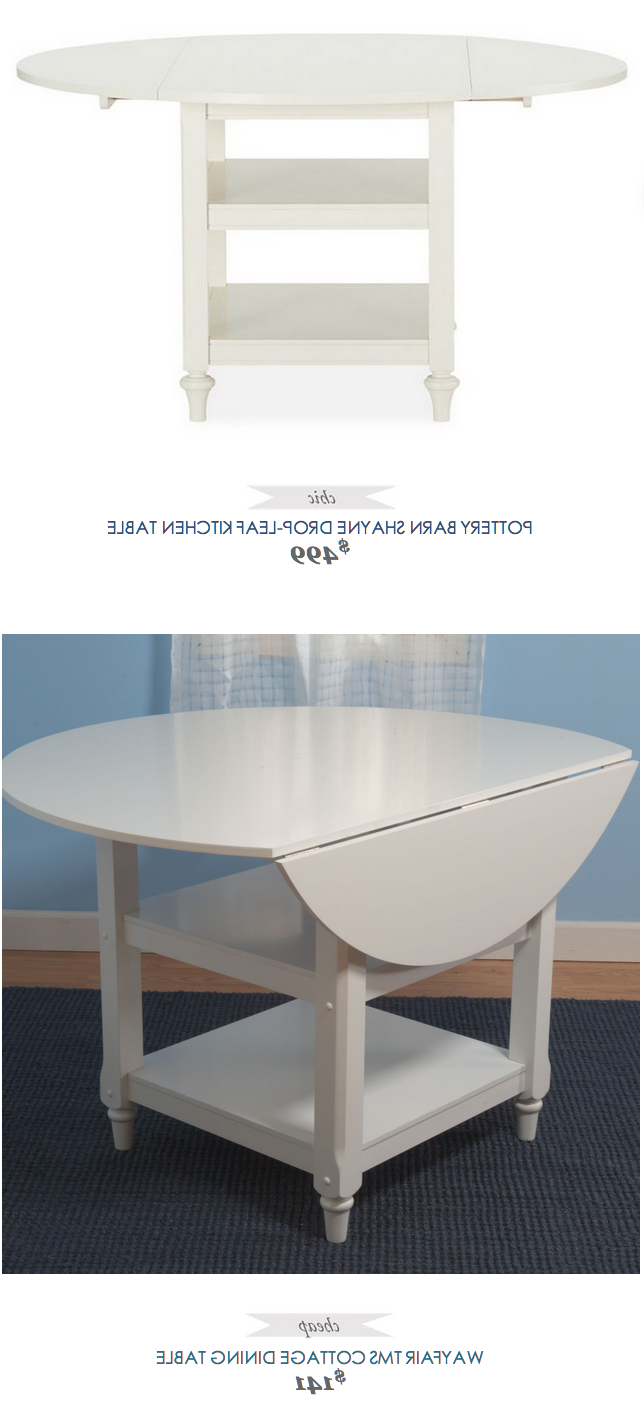 Pottery Barn Shayne Drop Leaf Kitchen Table (View 3 of 25)