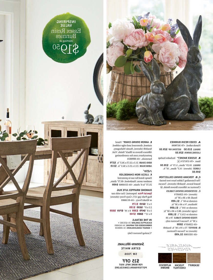 Pottery Barn – Spring 2017 D2 – Toscana Extending Dining Intended For Best And Newest Seadrift Toscana Extending Dining Tables (View 14 of 25)