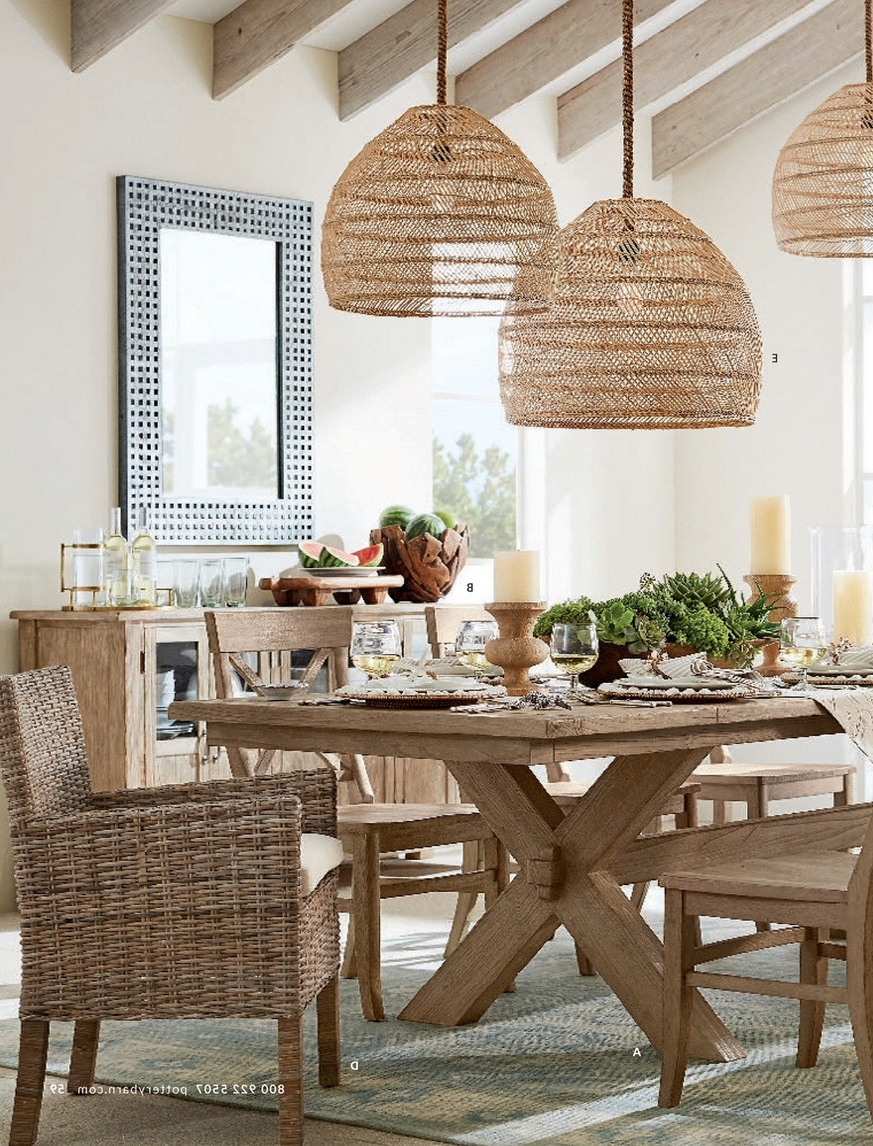Pottery Barn – Summer 2017 D1 – Toscana Dining Table Intended For Well Known Tuscan Chestnut Toscana Pedestal Extending Dining Tables (View 9 of 25)