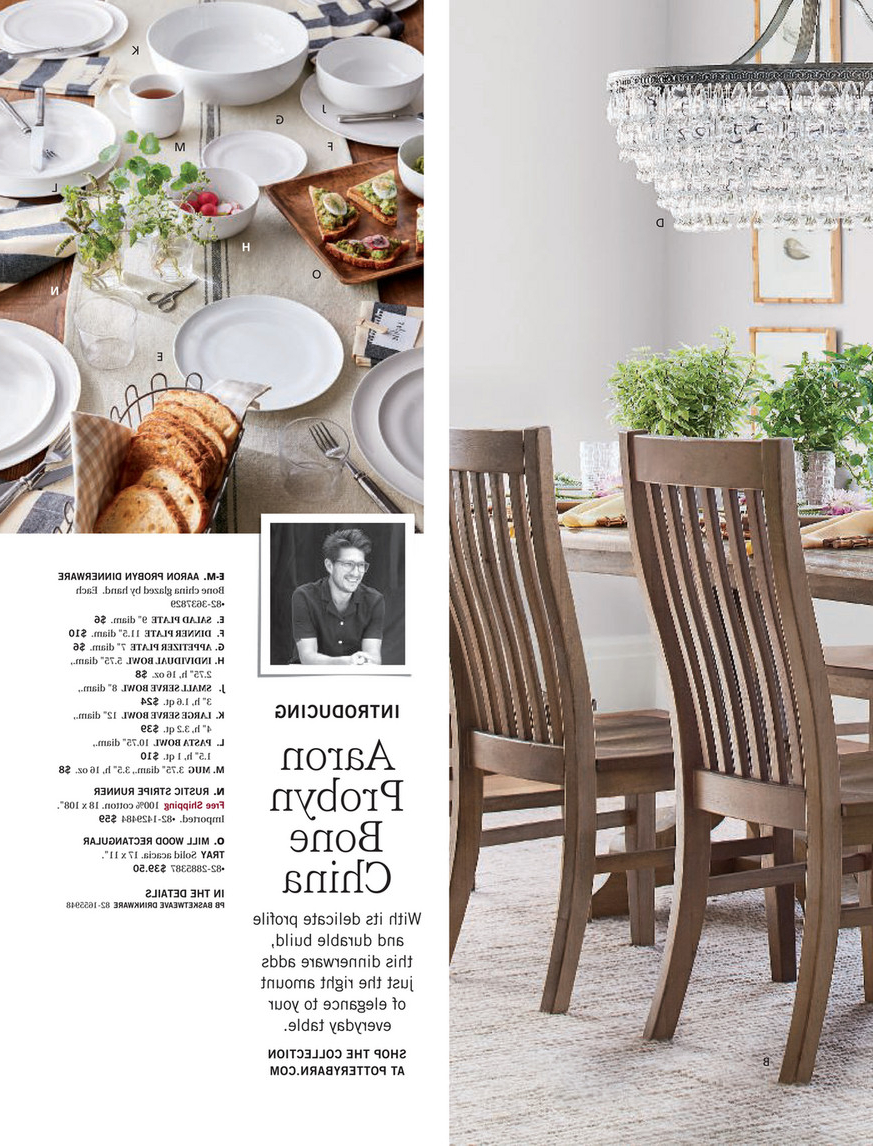 Pottery Barn – Winter 2018 D2 – Linden Pedestal Dining Table With Best And Newest Belgian Gray Linden Extending Dining Tables (View 11 of 25)