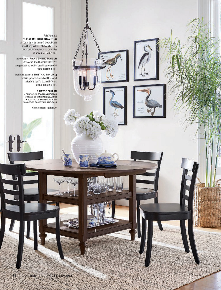 Pottery Barn – Winter 2018 D2 – Shayne Round Drop Leaf Intended For Well Liked Antique White Shayne Drop Leaf Kitchen Tables (View 25 of 25)
