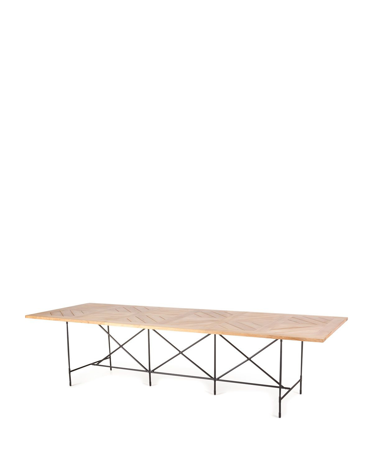 Preferred Avery Rectangular Dining Tables Intended For Avery Neoclassical 122L Outdoor Dining Table In  (View 15 of 25)