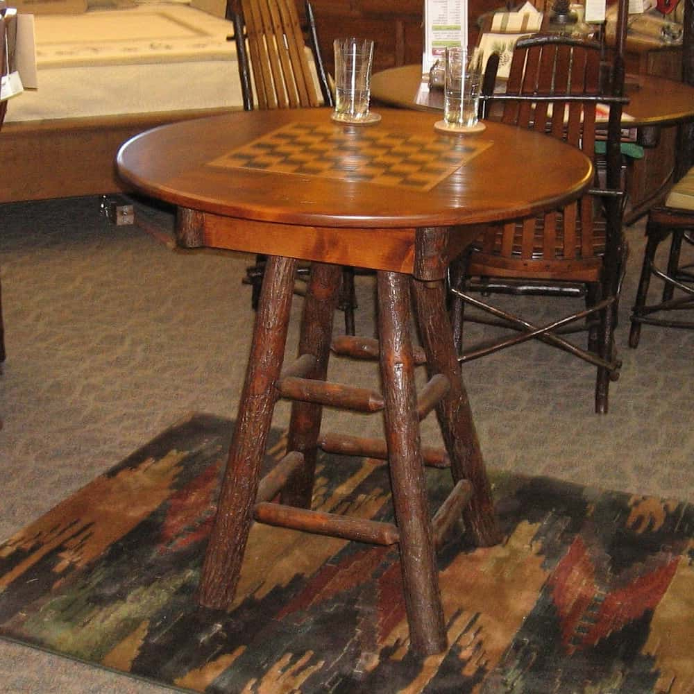 Preferred Country Delight Game Table, Shown In Hickory And Rustic Alder With A  Michael's Cherry Finish (Table Only) Inside Alder Pub Tables (View 17 of 25)