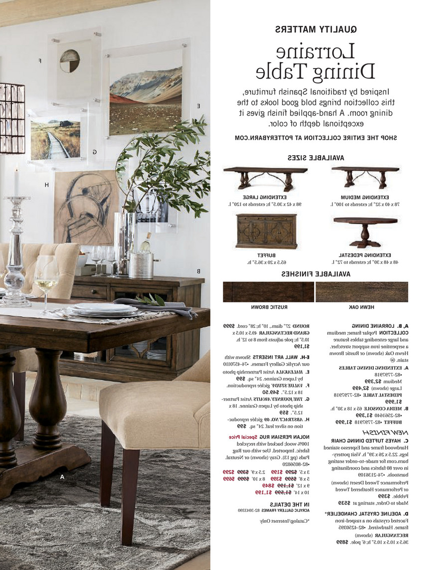 Preferred Pottery Barn – Fall 2017 D2 – Lorraine Extending Dining In Rustic Brown Lorraine Pedestal Extending Dining Tables (View 8 of 25)
