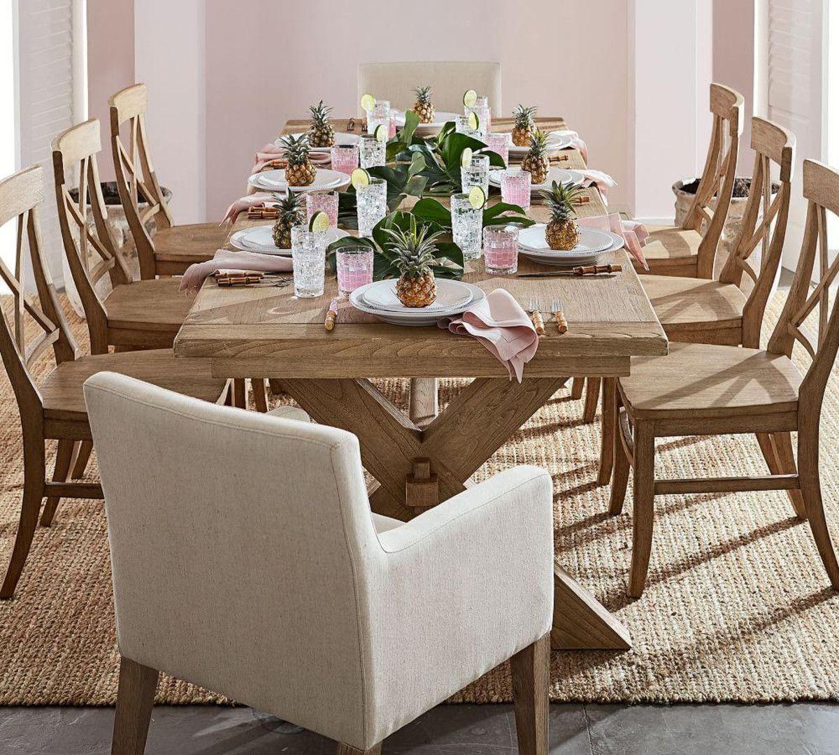 Featured Photo of Seadrift Toscana Pedestal Extending Dining Tables