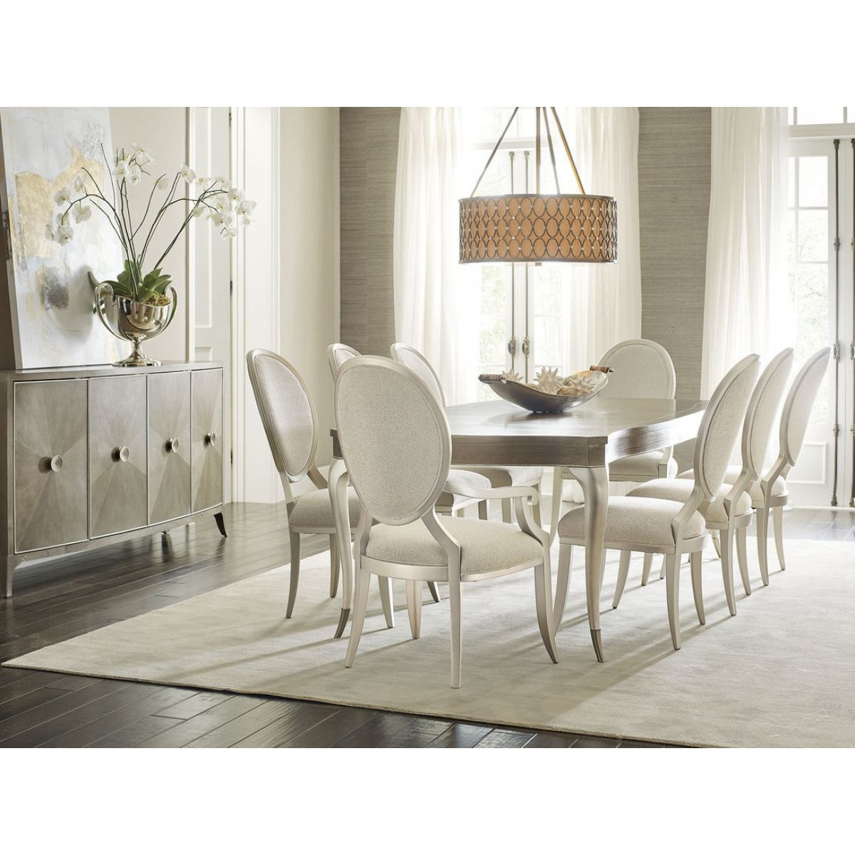 Recent Avondale Dining Tables intended for Caracole Avondale 7Pc Rectangle Dining Table Set