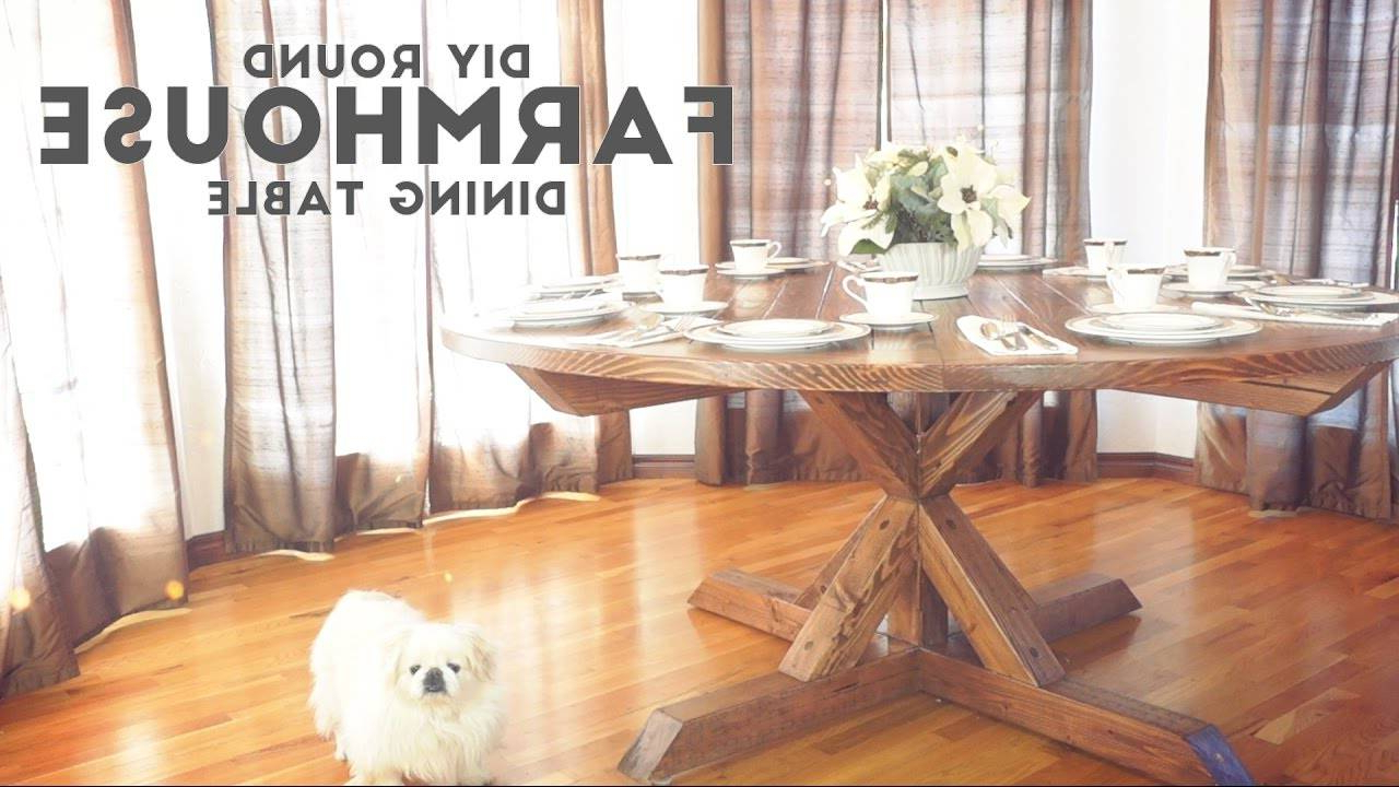 Recent Dining Room Architectures Furniture Round Farmhouse Table with regard to Modern Farmhouse Extending Dining Tables