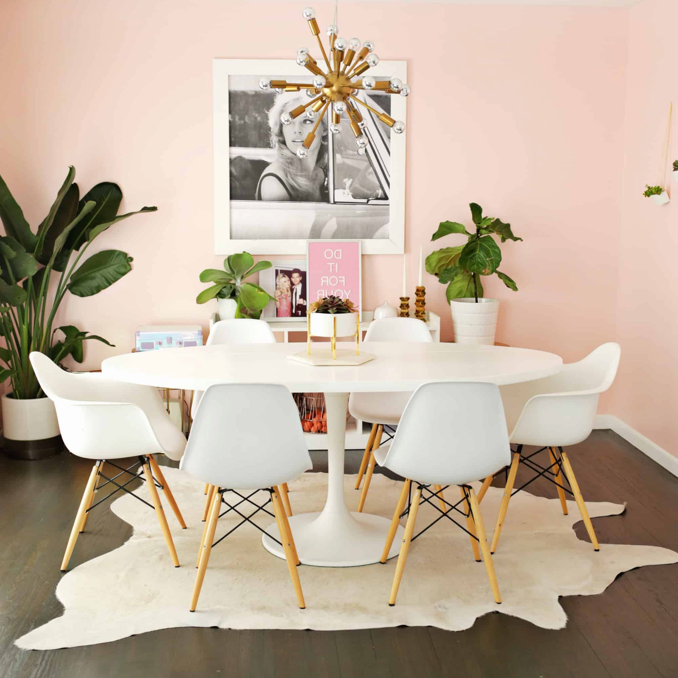 Recent Ikea Docksta Table Hack! - A Beautiful Mess in Chapman Round Marble Dining Tables