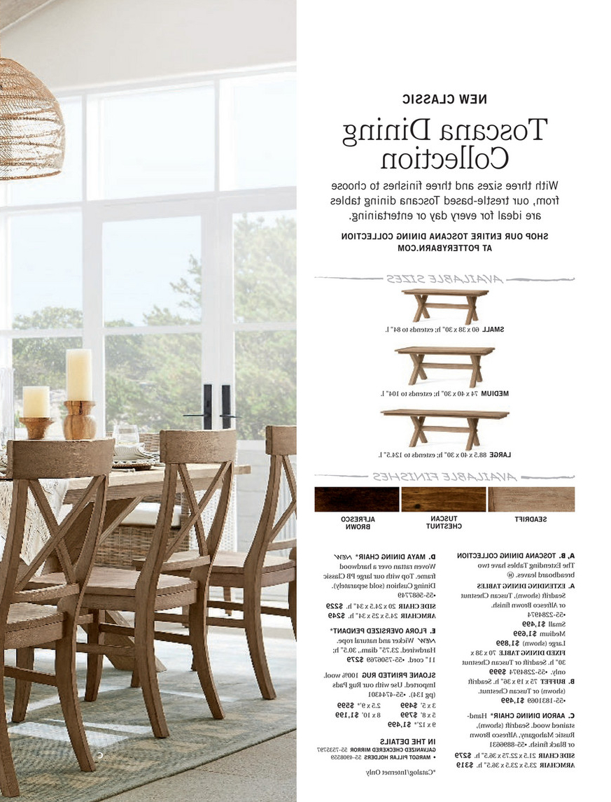 Recent Tuscan Chestnut Toscana Extending Dining Tables within Pottery Barn - Summer 2017 D1 - Toscana Dining Table