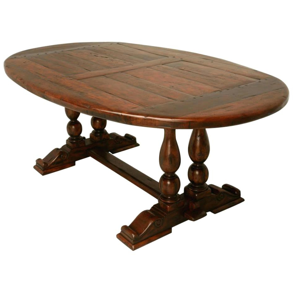 Reclaimed Wood Oval Dining Table – Axistechnology (View 21 of 25)