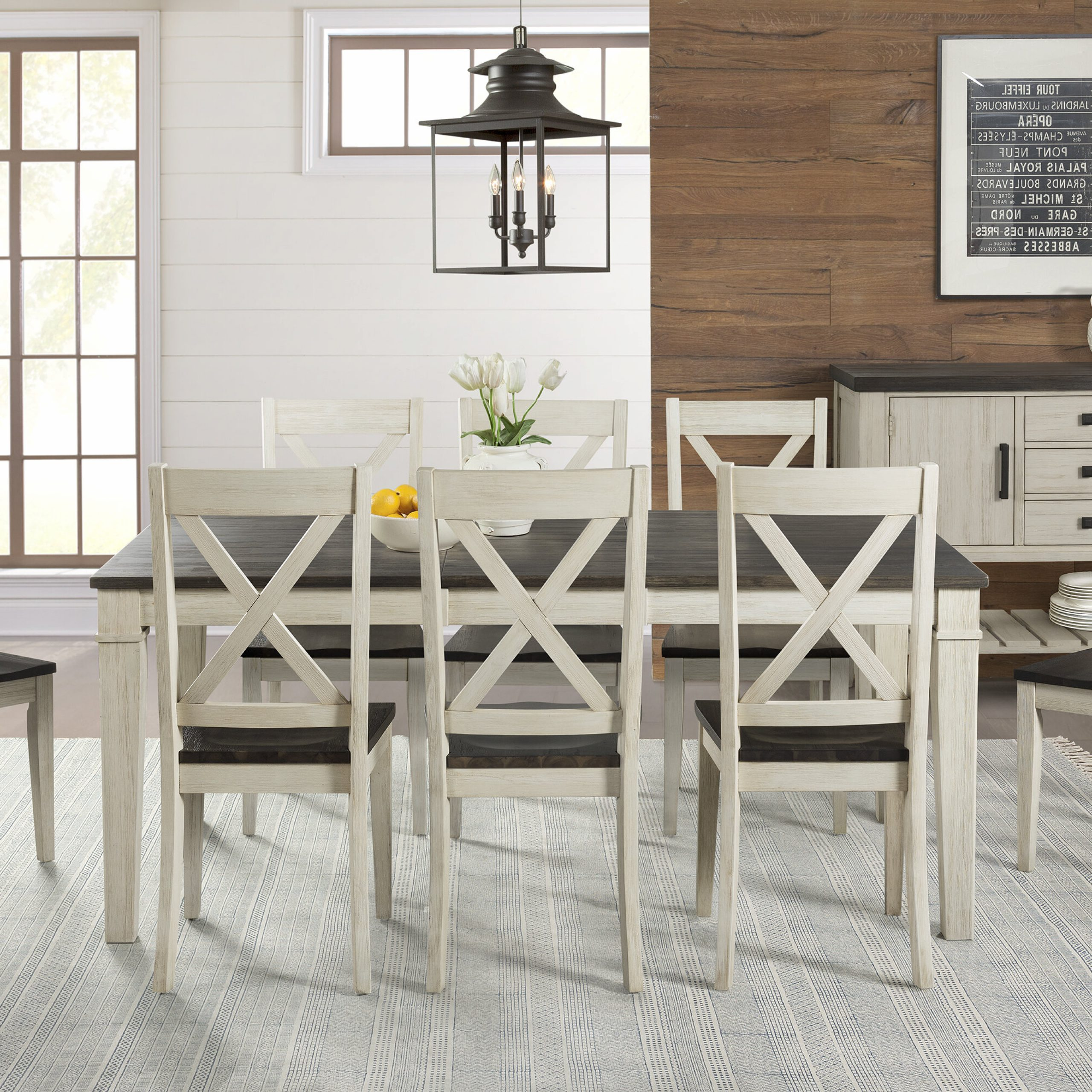 Ridgley 9 Piece Extendable Solid Wood Dining Set with Best and Newest Hewn Oak Lorraine Extending Dining Tables