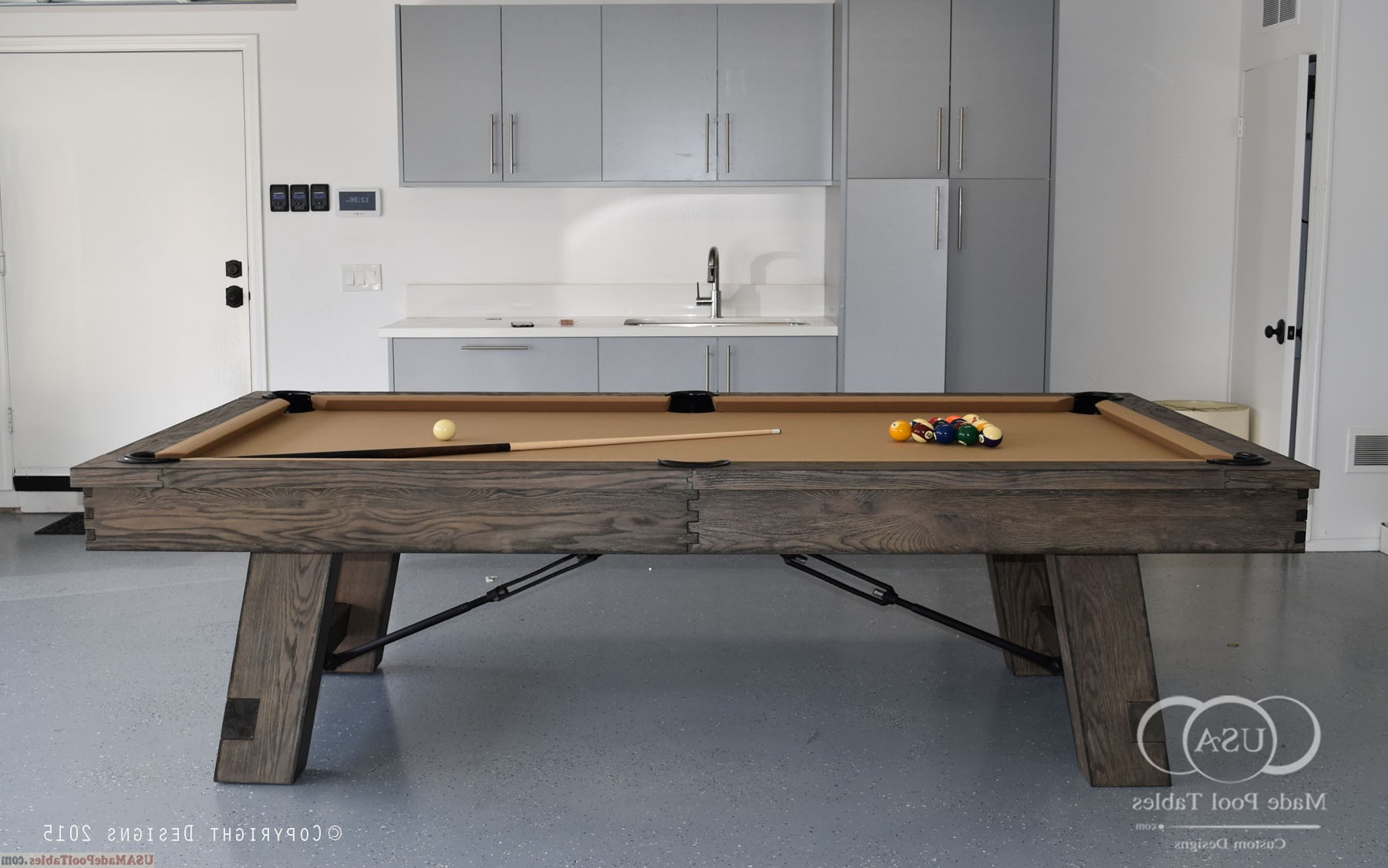 Rustic Billiard Tables : Rustic Pool Tables : Rustic Pool in Well known Gray Wash Benchwright Dining Tables