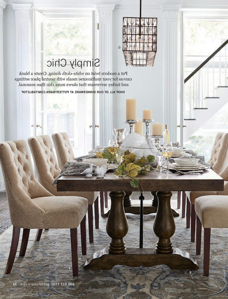 Rustic Brown Lorraine Extending Dining Tables for Well-known Pottery Barn - Fall 2017 D3 - Lorraine Extending Dining