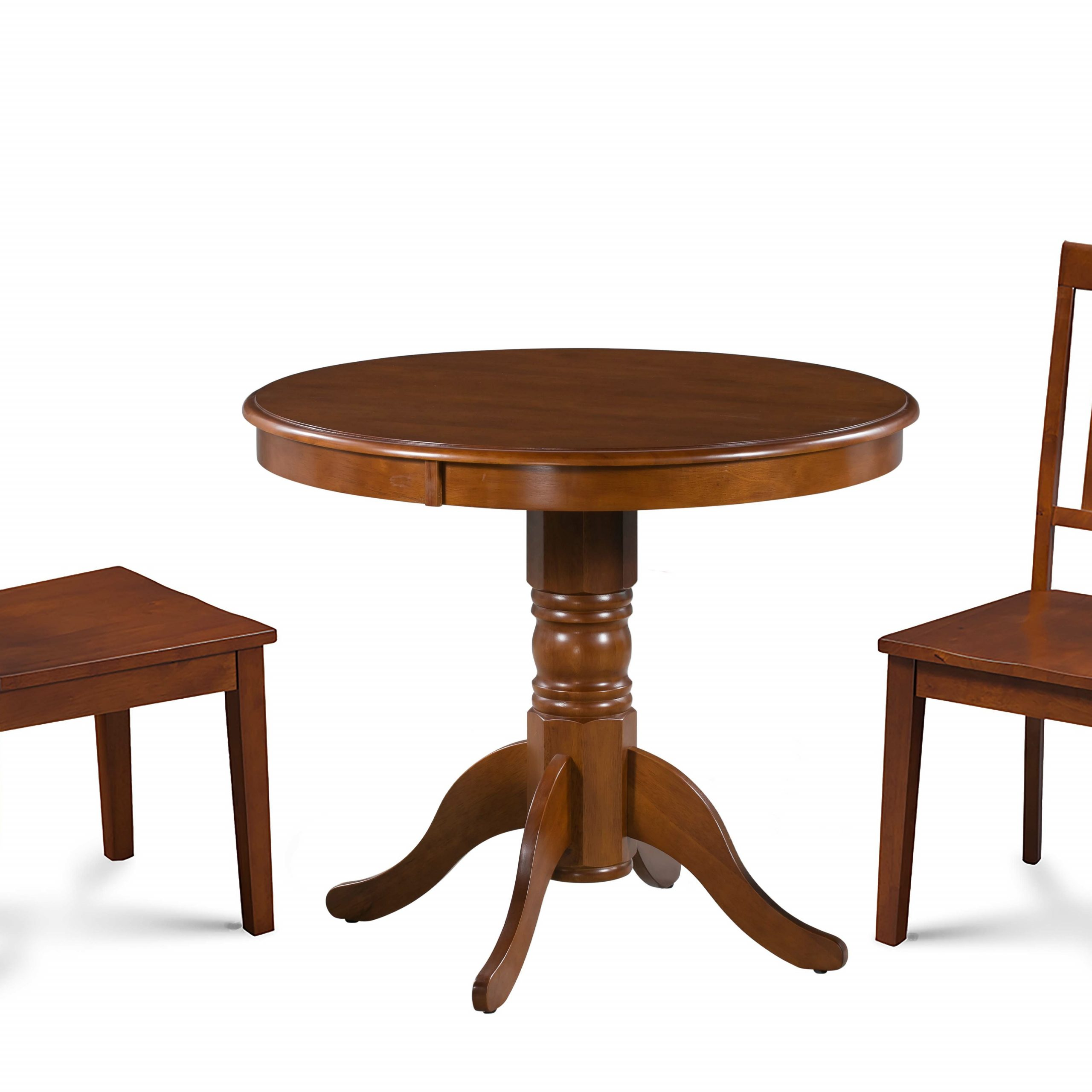 Rustic Brown Lorraine Extending Dining Tables with Current Dahlquist 3 Piece Solid Wood Dining Set