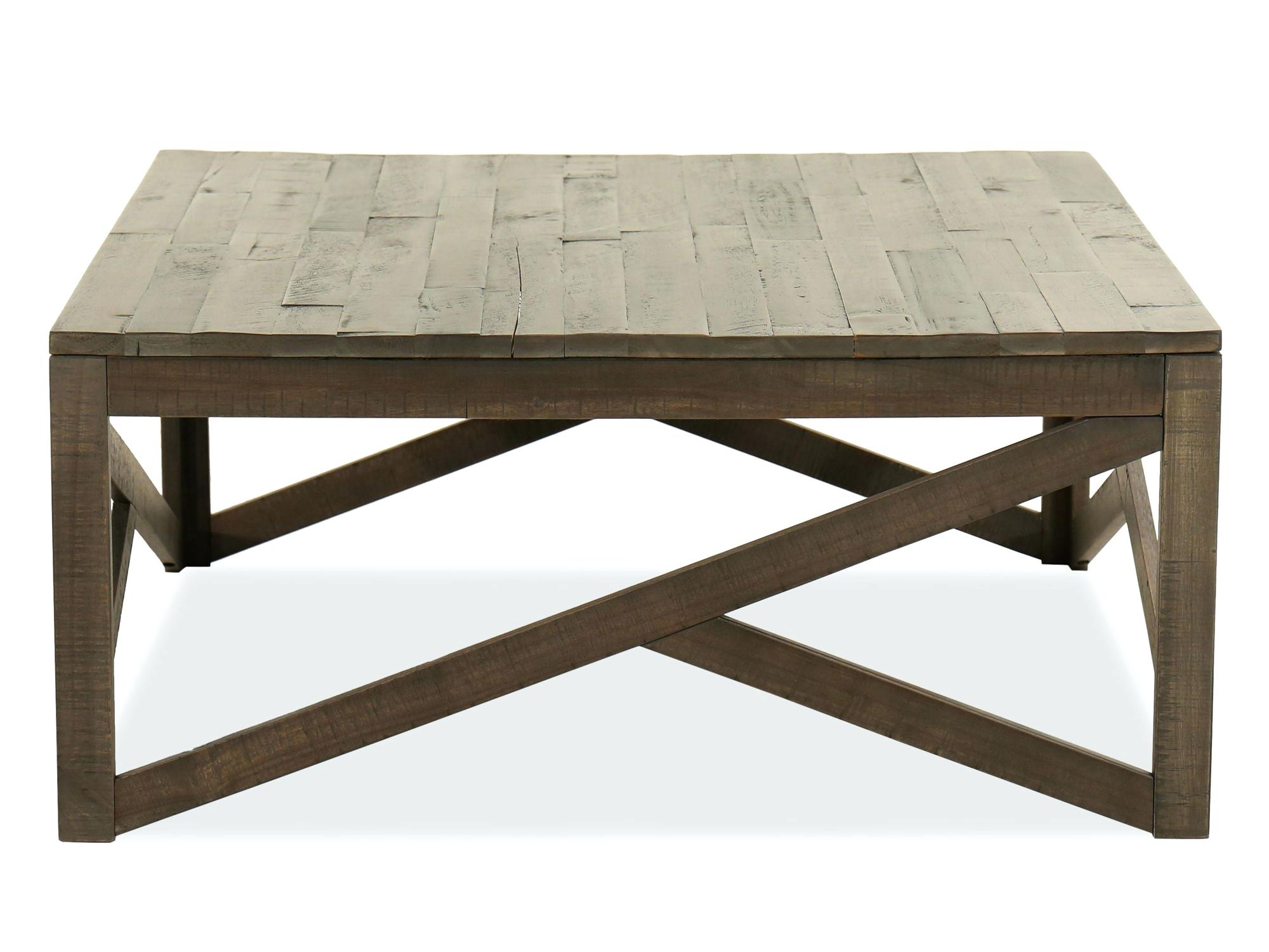 Rustic Rectangular Coffee Table – Livecultured.co intended for Popular Rustic Mahogany Benchwright Dining Tables
