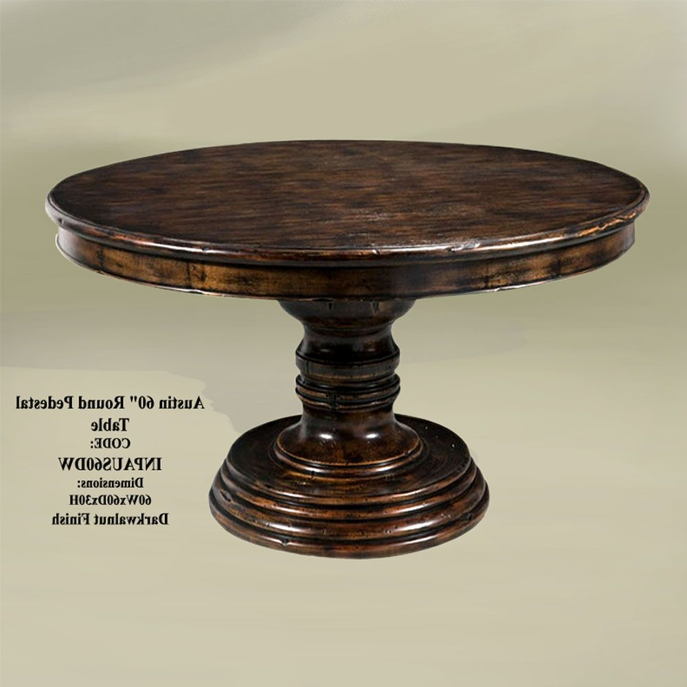 Rustic Round inside Johnson Round Pedestal Dining Tables
