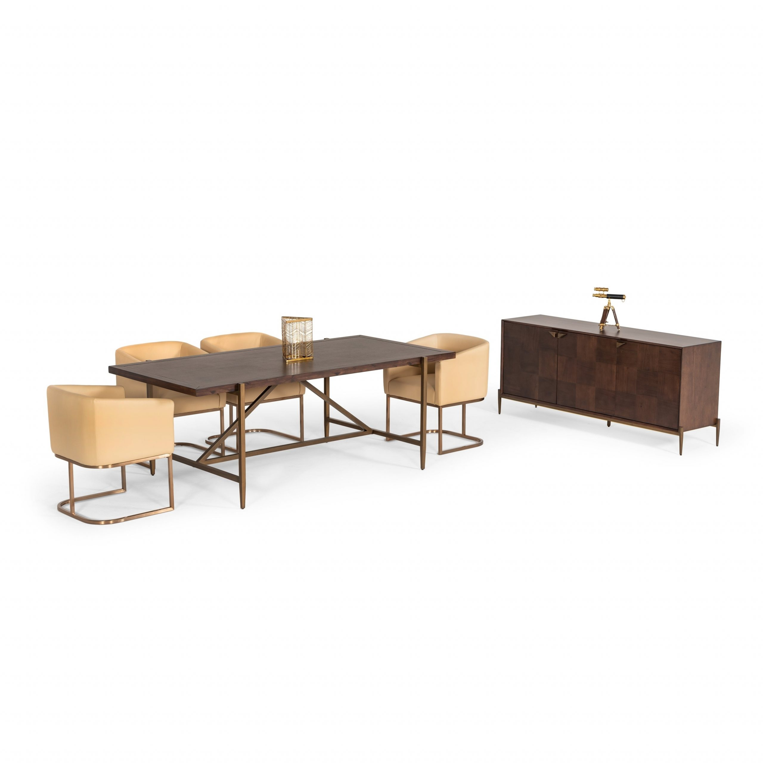 Salvaged Black Shayne Drop Leaf Kitchen Tables Intended For Most Popular Modrest Shane Modern Acacia & Brass Dining Table (View 21 of 25)