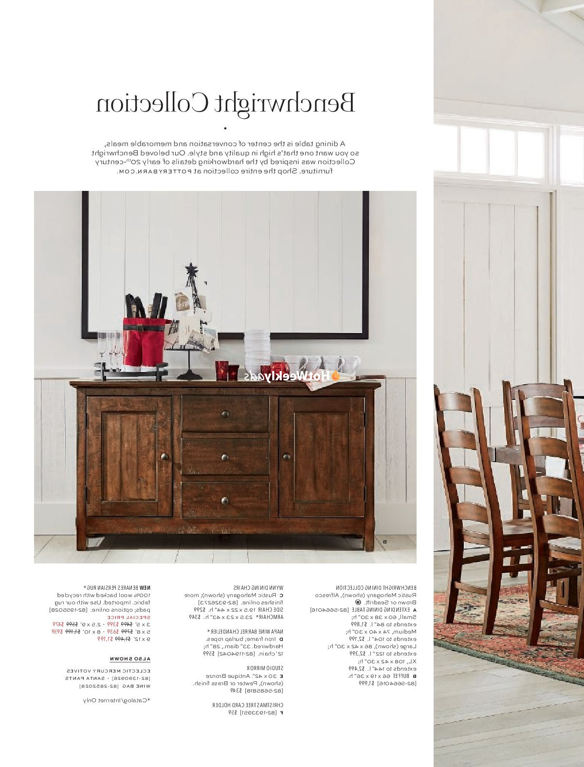 Seadrift Benchwright Dining Tables Within Latest Pottery Barn Weekly Ad & Flyer November 19 To December  (View 18 of 25)