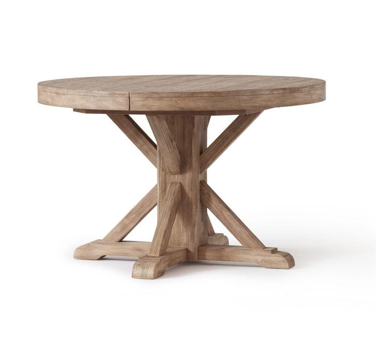 Seadrift Benchwright Extending Dining Tables Pertaining To Famous Benchwright Extending Round Table – Seadrift (View 3 of 25)