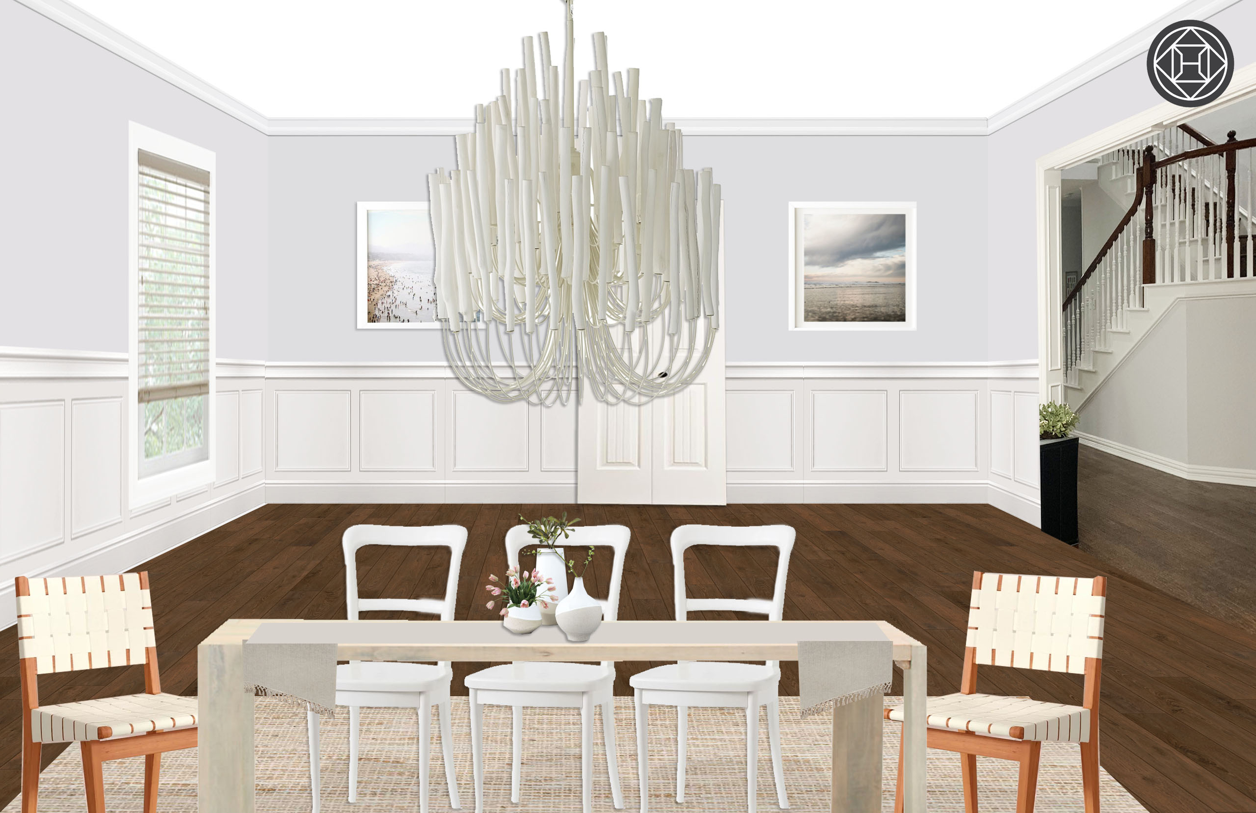 Seadrift Toscana Pedestal Extending Dining Tables For Popular Bohemian, Coastal Dining Room Designhavenly Interior (View 16 of 25)