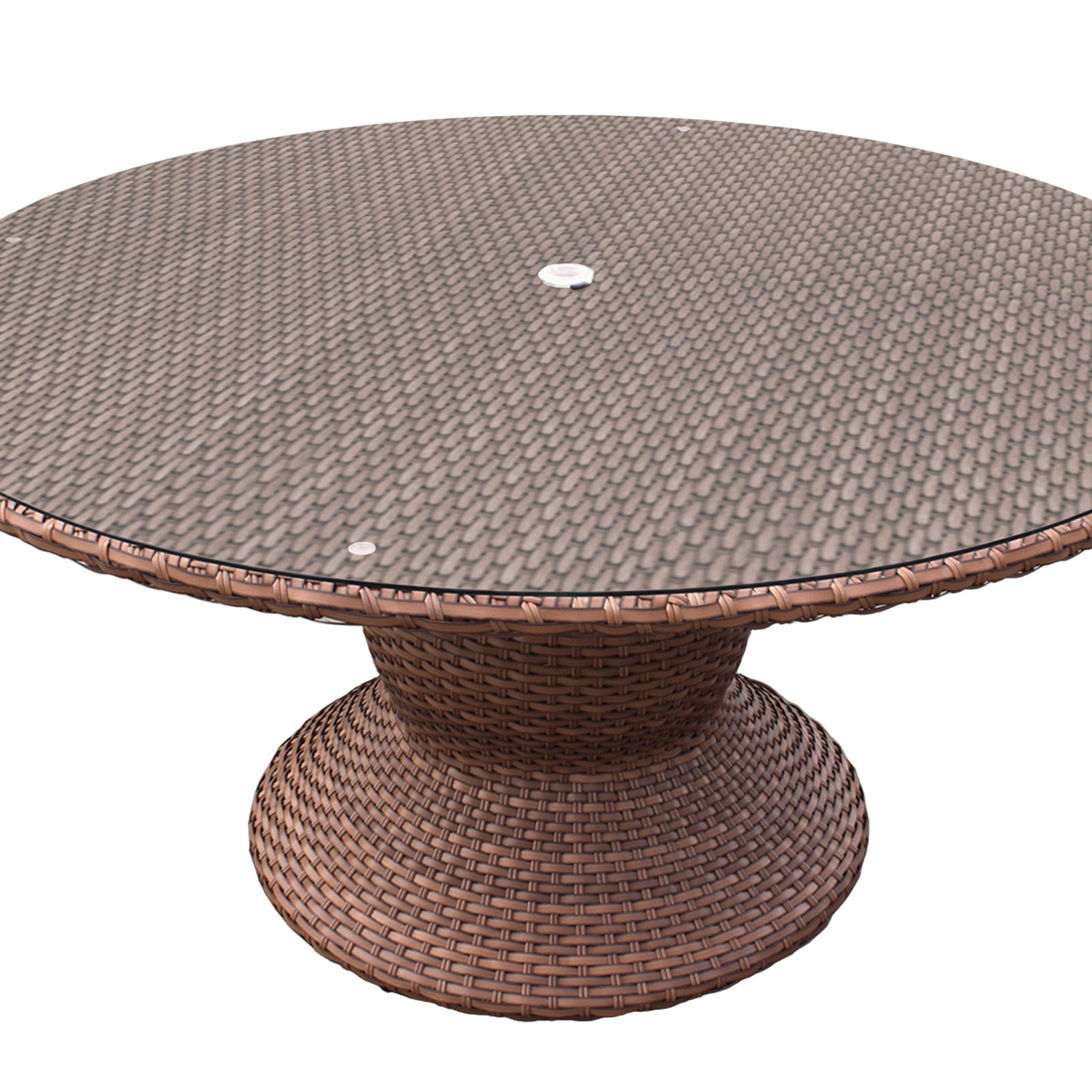 Seadrift Toscana Pedestal Extending Dining Tables Pertaining To Most Recent Laguna 60 Inch Outdoor Patio Dining Table (View 17 of 25)