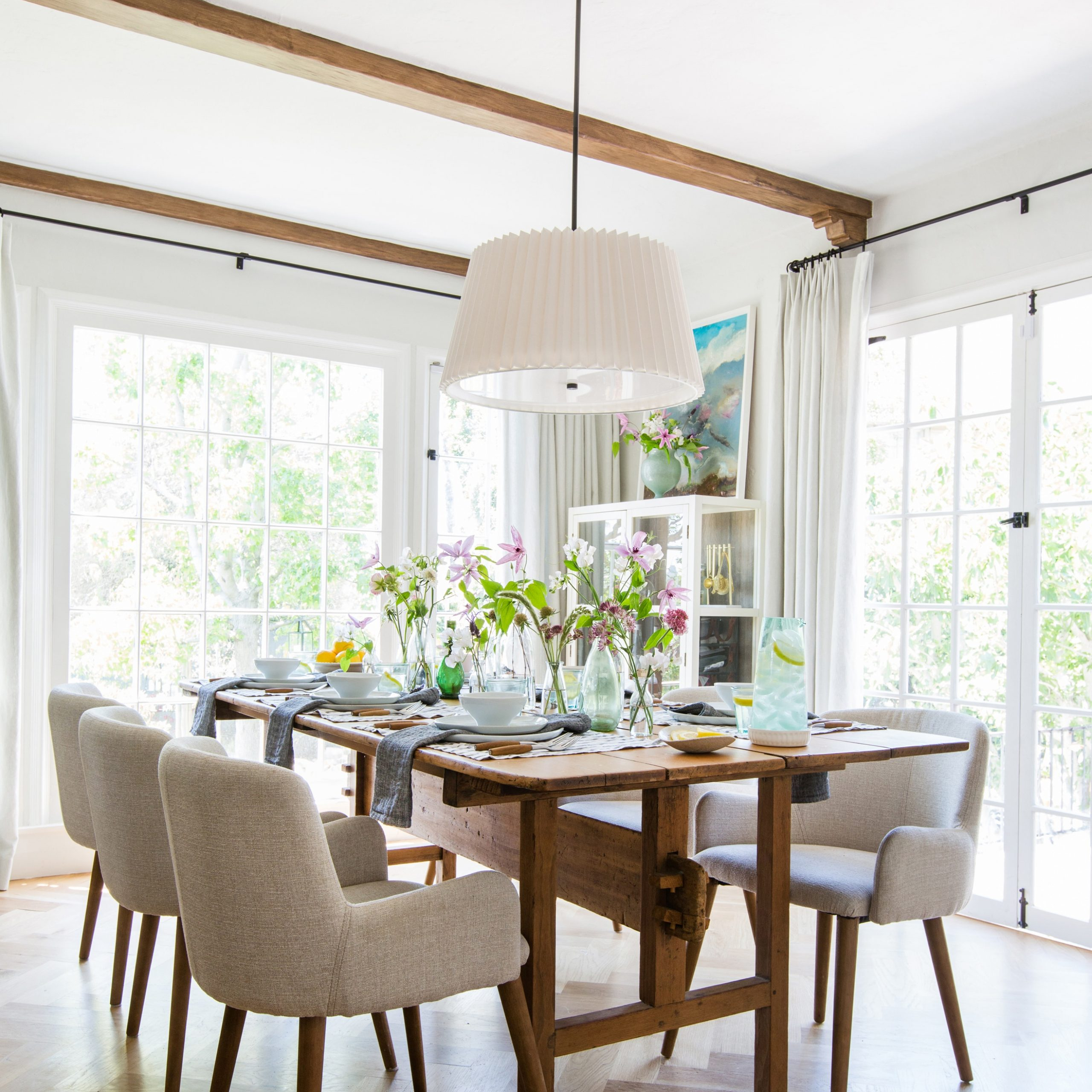Shaw Dining Tables, Blonde Oak Within 2020 My Updated La Dining Room + My Dream Dining Chairs (Kinda (View 5 of 25)