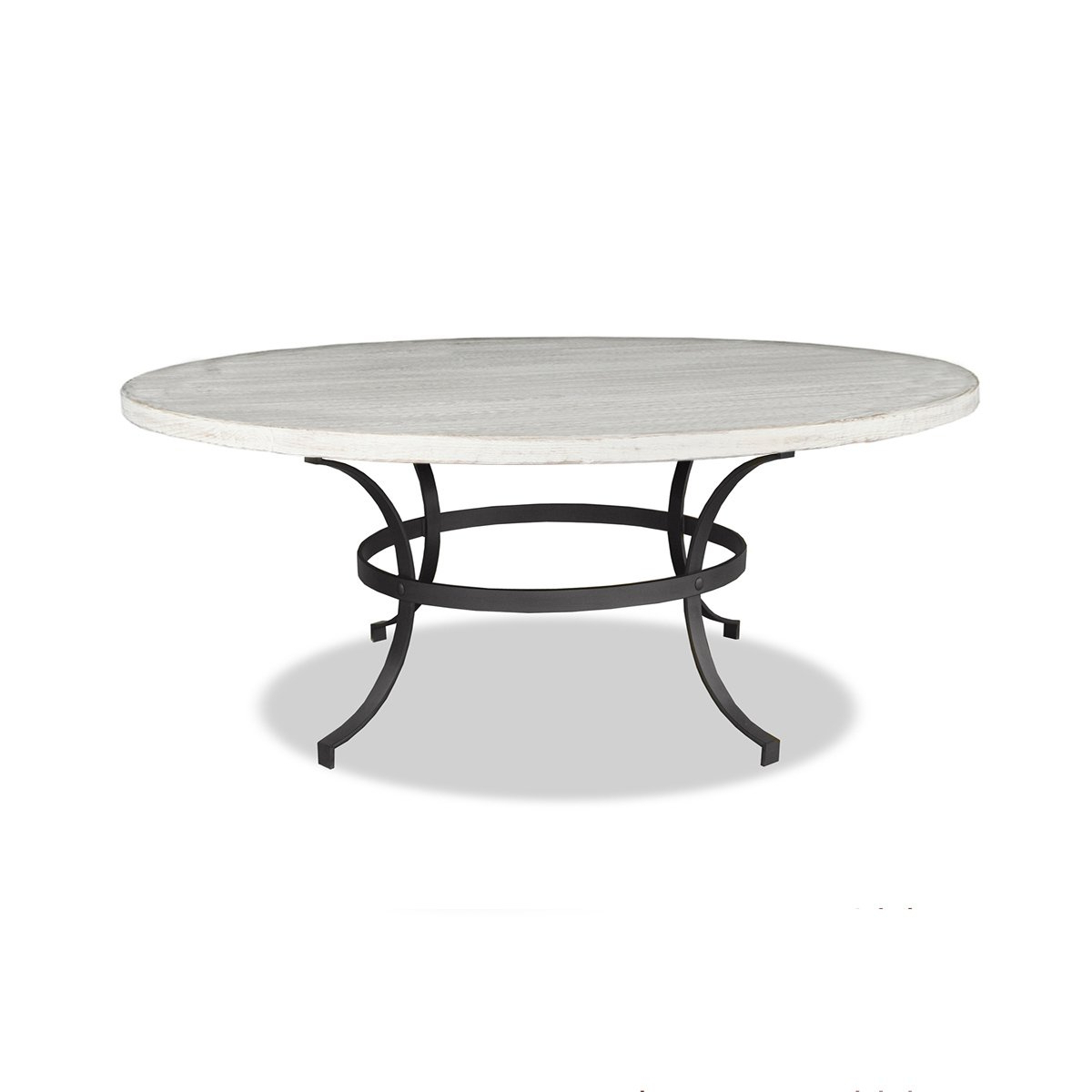 """South Cone Home Alexandra Round Dining Table, 60"""", White Inside Most Popular Alexandra Round Marble Pedestal Dining Tables (View 20 of 25)"""