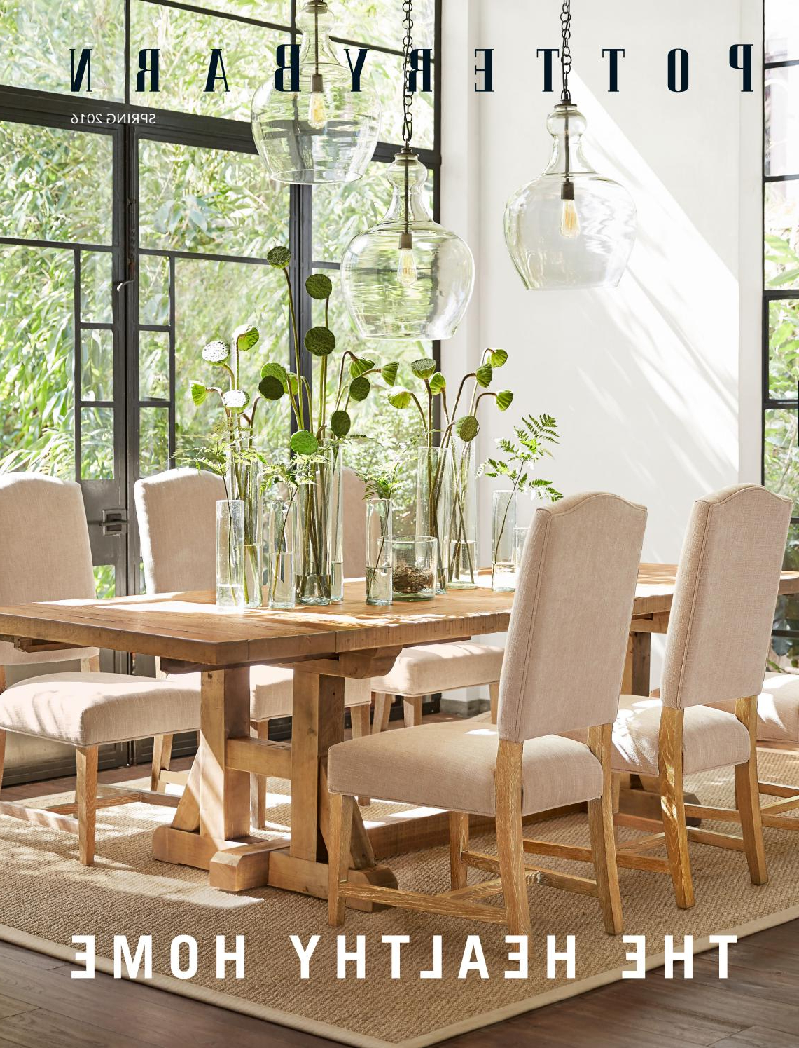 Spring Catalogue 2016Williams For Hewn Oak Lorraine Pedestal Extending Dining Tables (View 8 of 25)