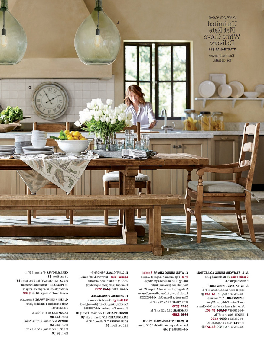 Stafford Reclaimed Extending Dining Tables For Current Pottery Barn – Spring 2017 D3 – Stafford Reclaimed Pine (View 12 of 25)