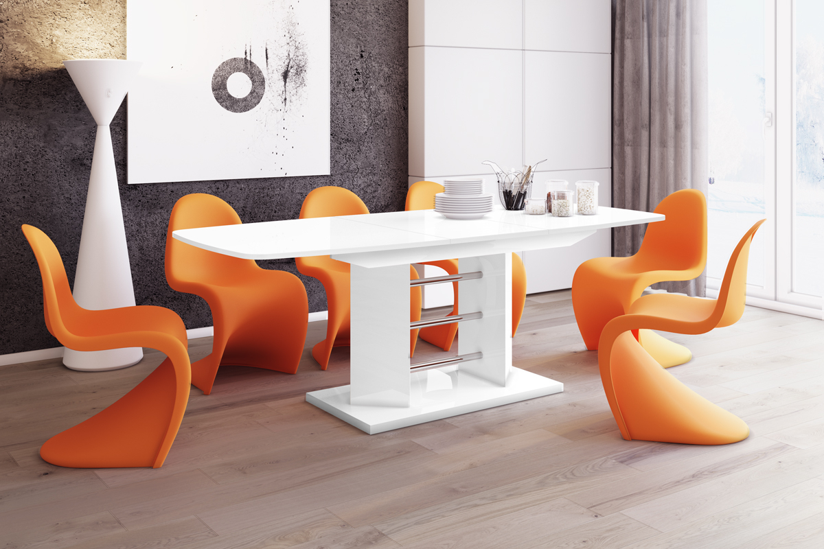 Thalia Dining Tables Throughout Popular Extendable Dining Table  Thalia – White High Gloss (View 19 of 25)