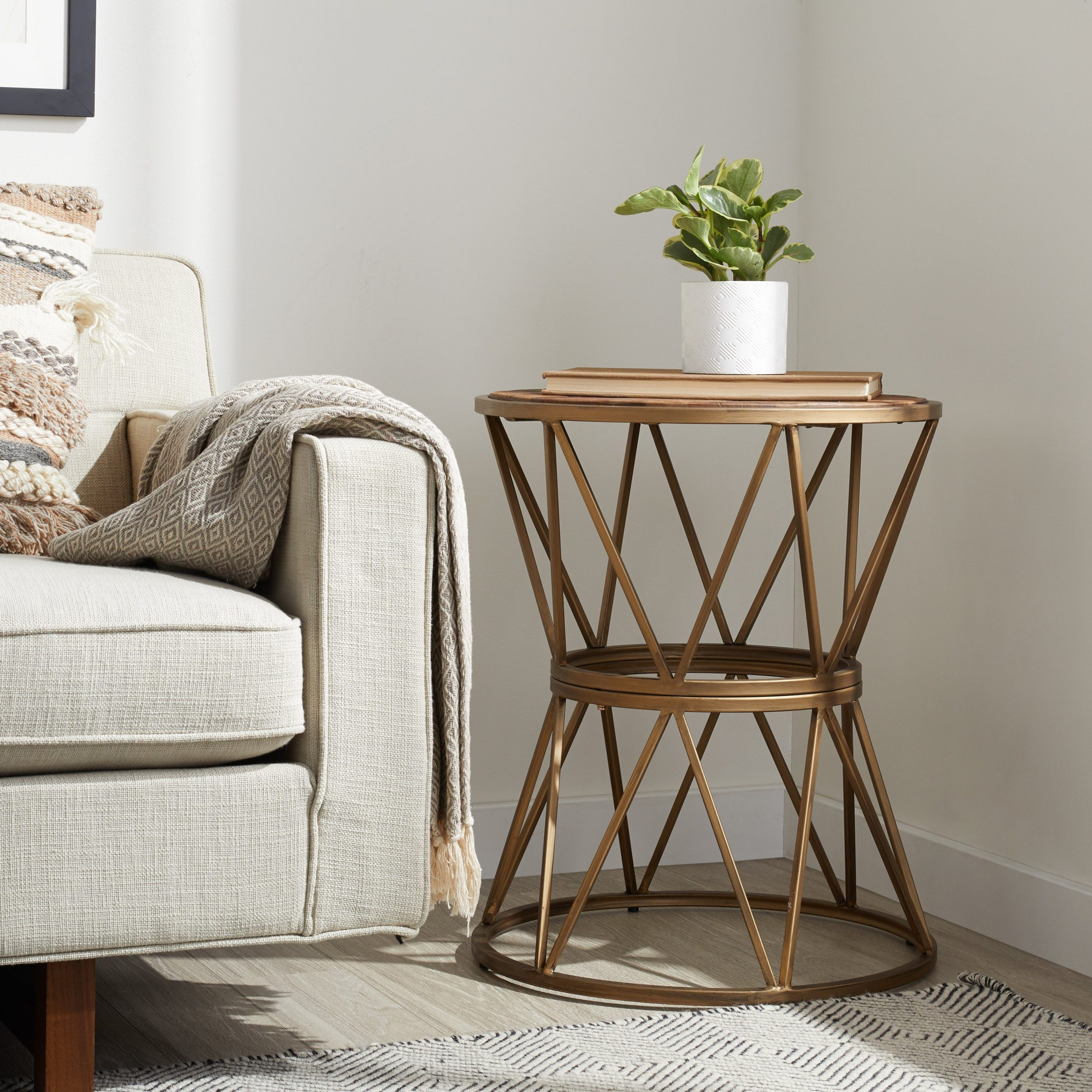 The Curated Nomad Hearst Reclaimed 20 Inch Circular End Table With Newest Hearst Bar Tables (View 17 of 25)