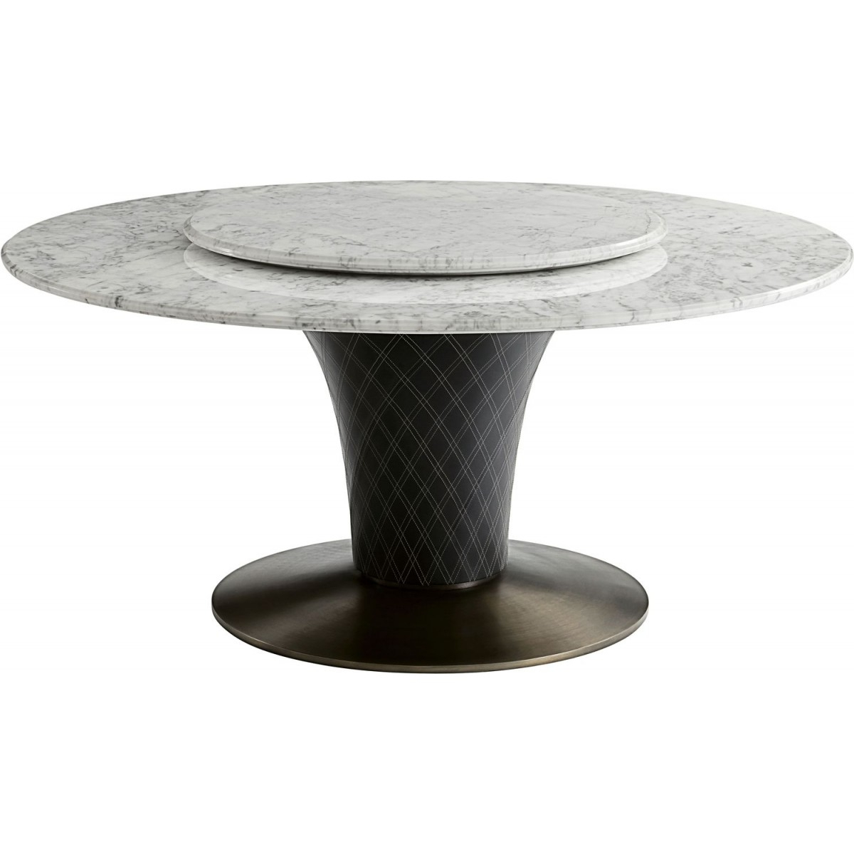 Theodore Alexander Steve Leung Pirouette Round Dining Table Throughout Preferred Alexandra Round Marble Pedestal Dining Tables (View 13 of 25)