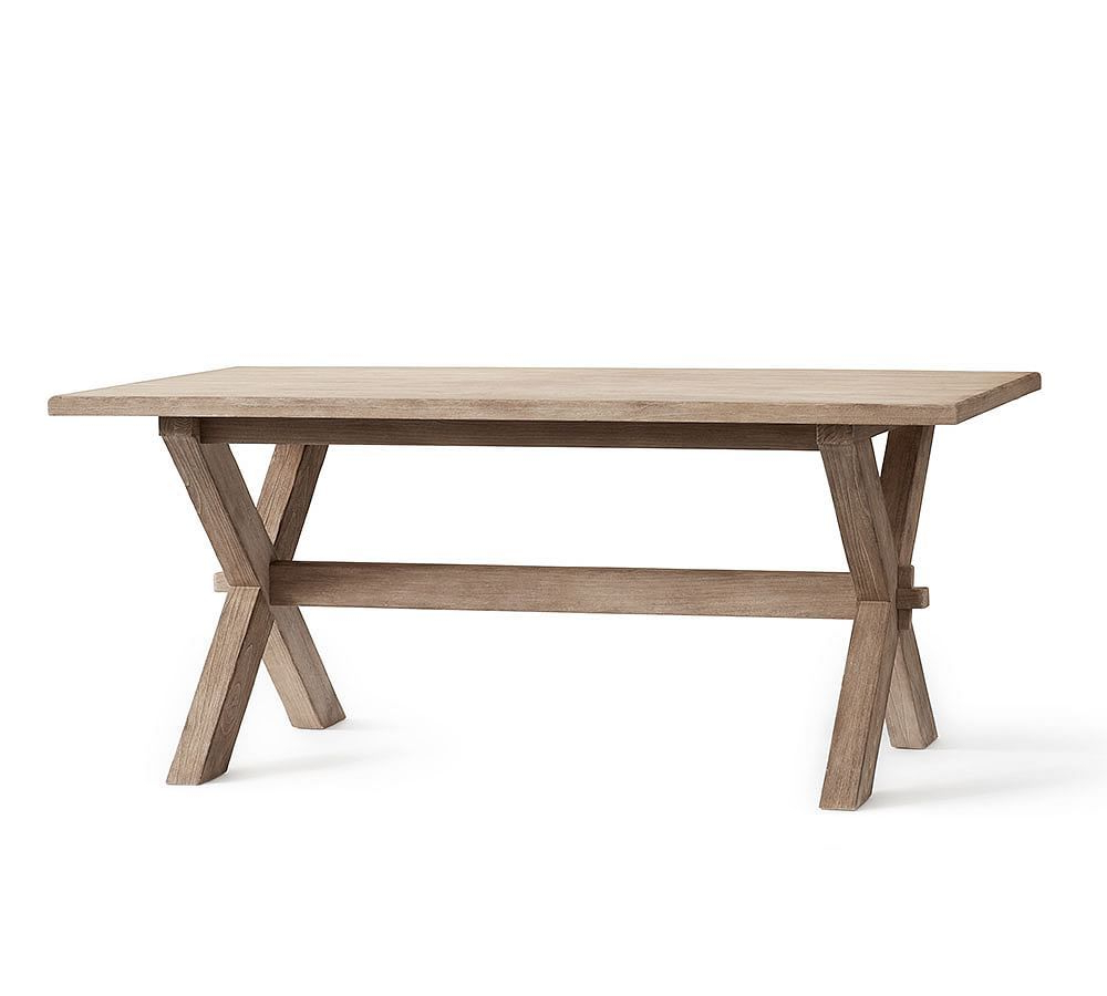 Toscana Fixed Dining Table, Seadrift At Pottery Barn In Most Current Seadrift Banks Extending Dining Tables (View 2 of 25)