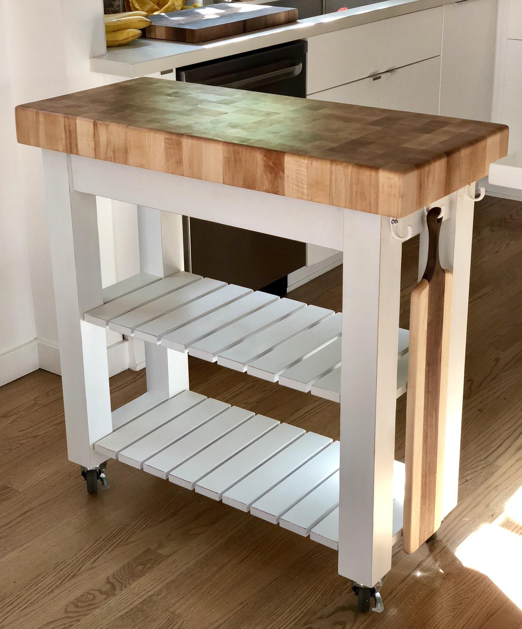 Trendy Elworth Kitchen Island In Maple Kitchen Island Butcher Block With A Hidden Drawer In (View 10 of 25)
