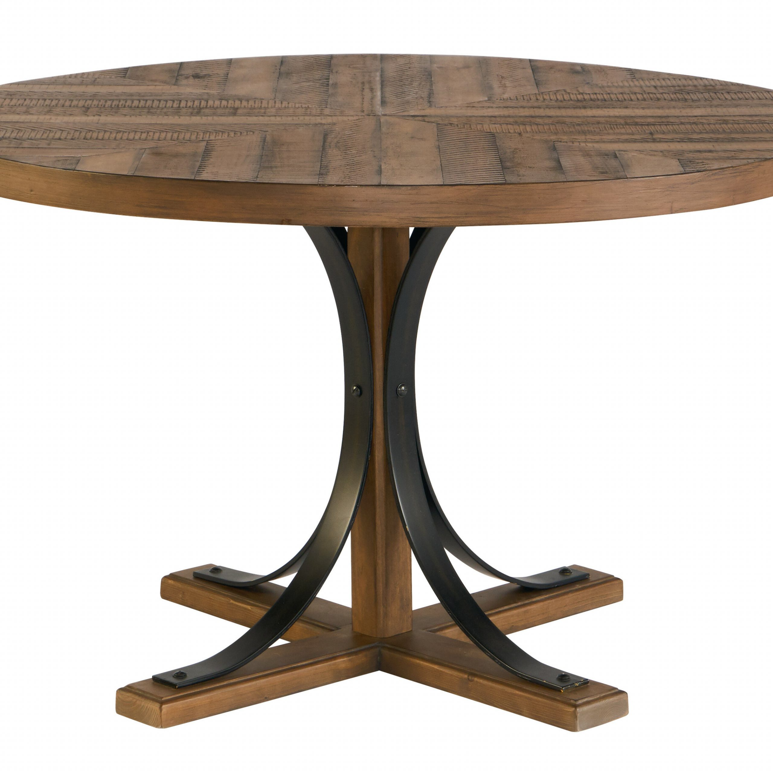 Trendy Hart Reclaimed Extending Dining Tables Inside Iron Trestle Solid Wood Dining Table (View 18 of 25)