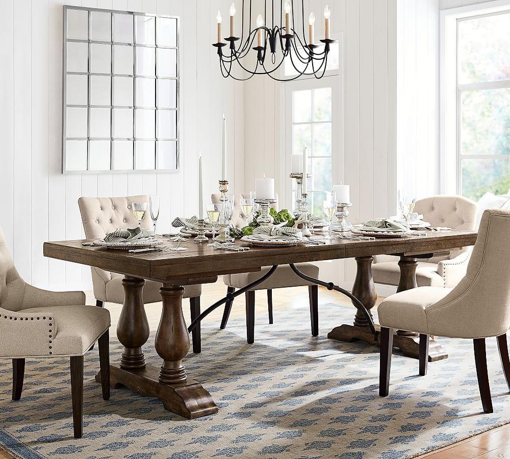 Featured Photo of Hewn Oak Lorraine Pedestal Extending Dining Tables