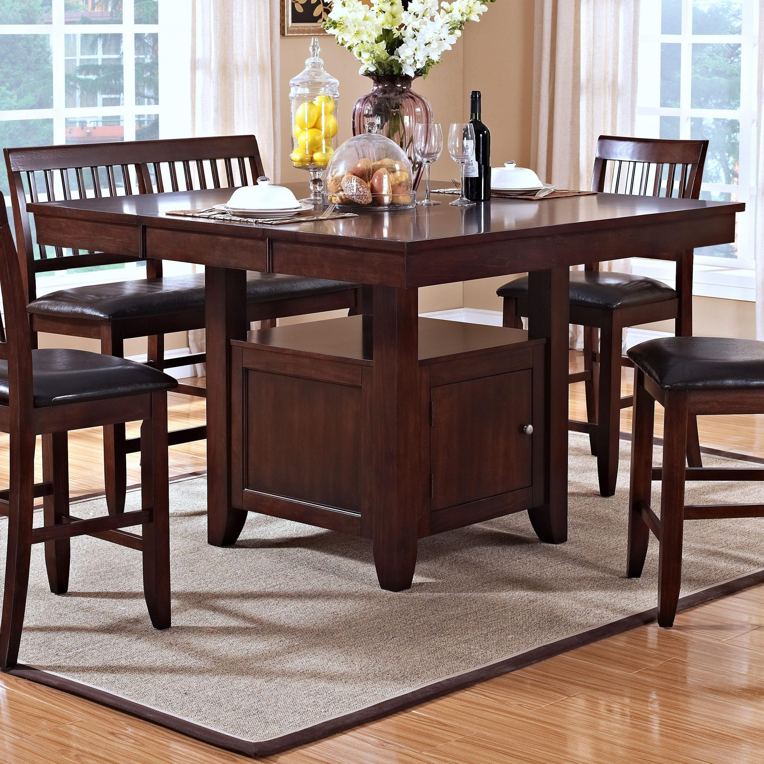Trendy New Classic Kaylee Counter Height Table With Storage Regarding Avondale Counter Height Dining Tables (View 7 of 25)