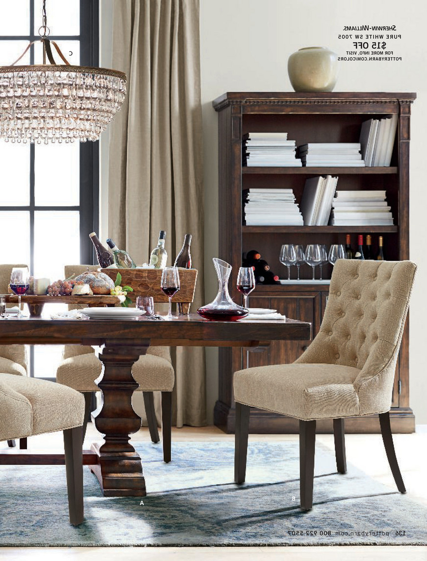 Trendy Pottery Barn – Summer 2017 D4 – Banks Extending Dining Table Pertaining To Alfresco Brown Banks Pedestal Extending Dining Tables (View 5 of 25)