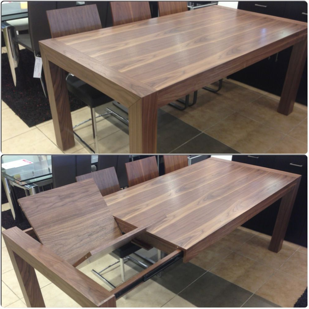 Walnut Extendable Dining Table With Butterfly Leave On Throughout Most Up To Date Kipling Rectangular Dining Tables (View 9 of 25)
