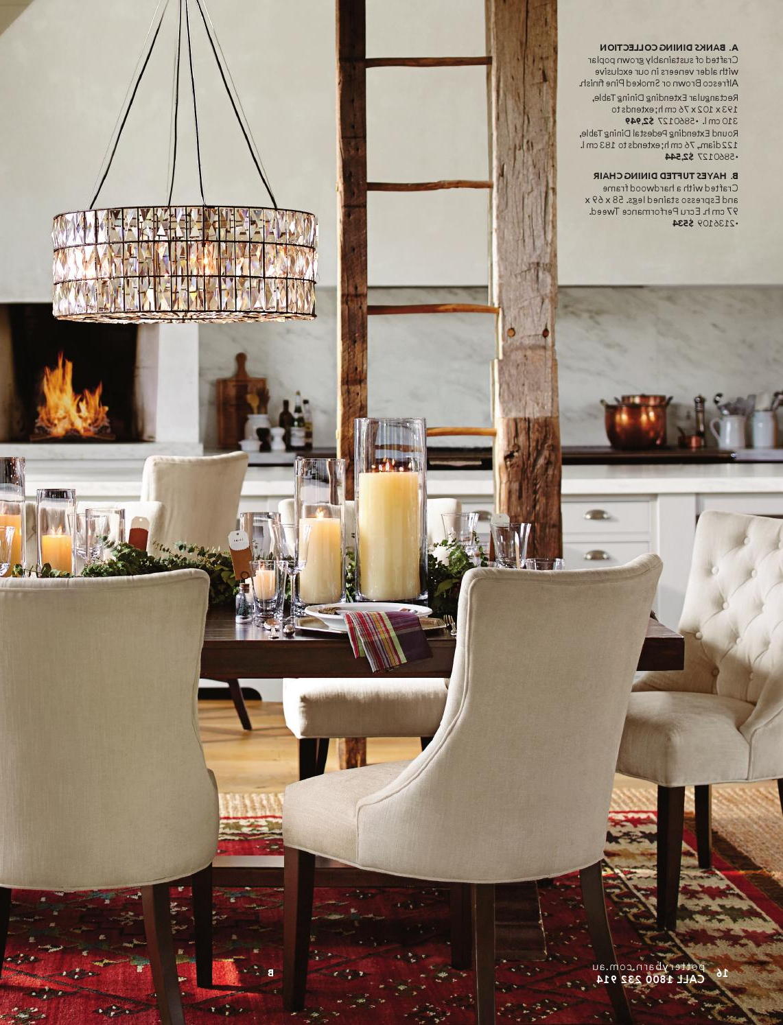 Well Known Alfresco Brown Banks Pedestal Extending Dining Tables With Pottery Barn Australia (View 9 of 25)