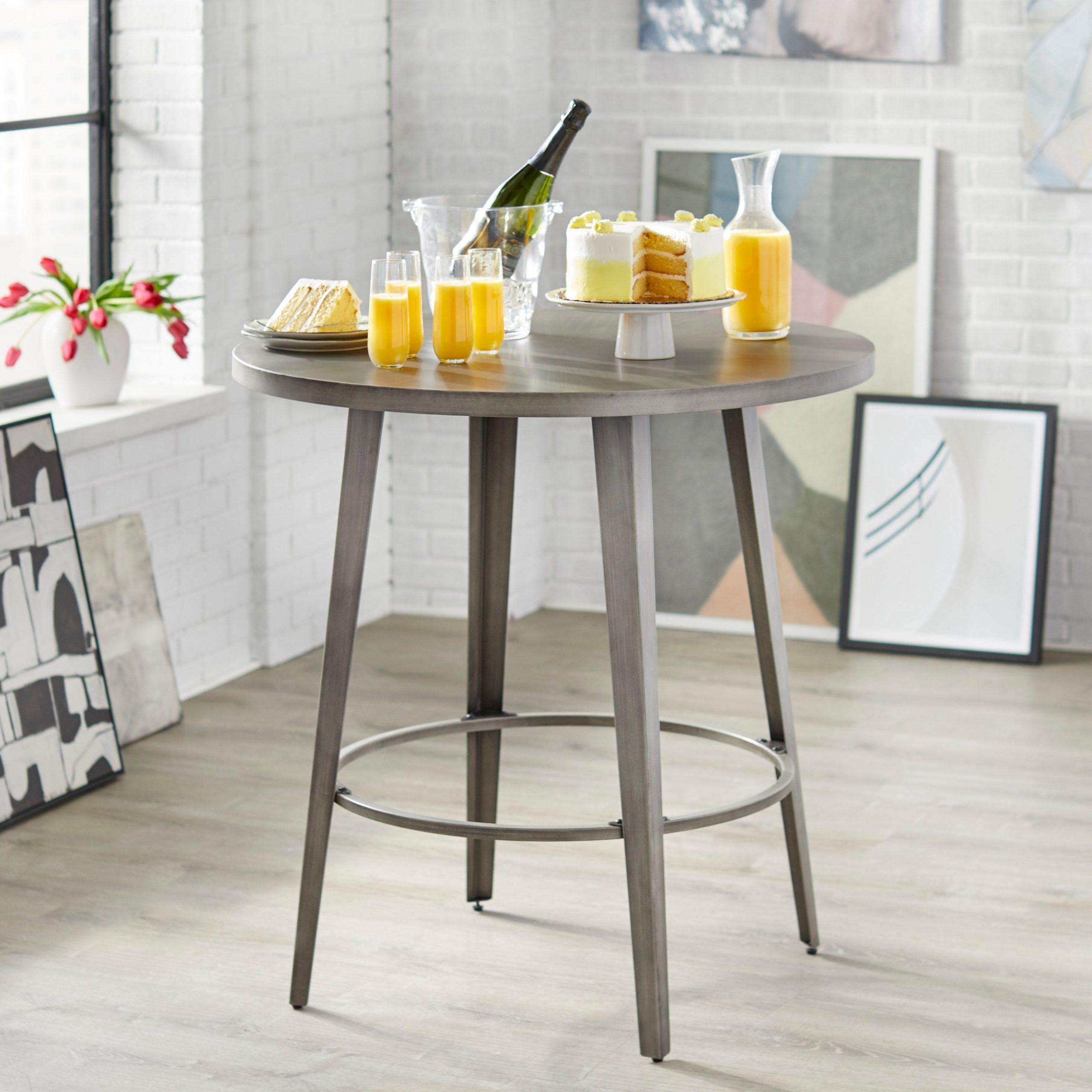 Well Known Angelo:home Linden Counter Height Dining Table Inside Linden Round Pedestal Dining Tables (View 10 of 25)