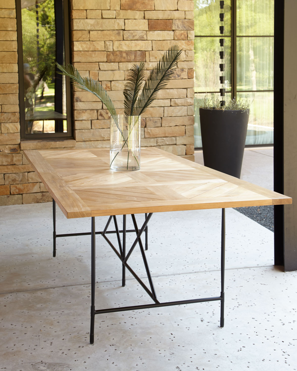 """Well Known Avery Neoclassical 122""""l Outdoor Dining Table Inside Avery Rectangular Dining Tables (View 18 of 25)"""