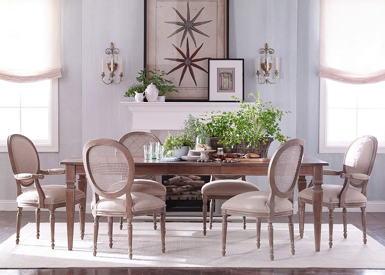 Well Known Avery Rectangular Dining Tables Intended For Amazon – Ethan Allen Avery Large Rectangular Extension (View 8 of 25)