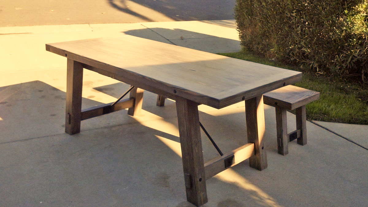 Well Known Benchright Industrial Farmhouse Table (View 8 of 25)