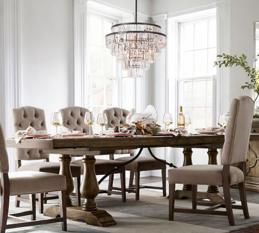 Well Known Extending Dining Room Sets Lorraine Table Hewn Oak With In Hewn Oak Lorraine Pedestal Extending Dining Tables (View 6 of 25)