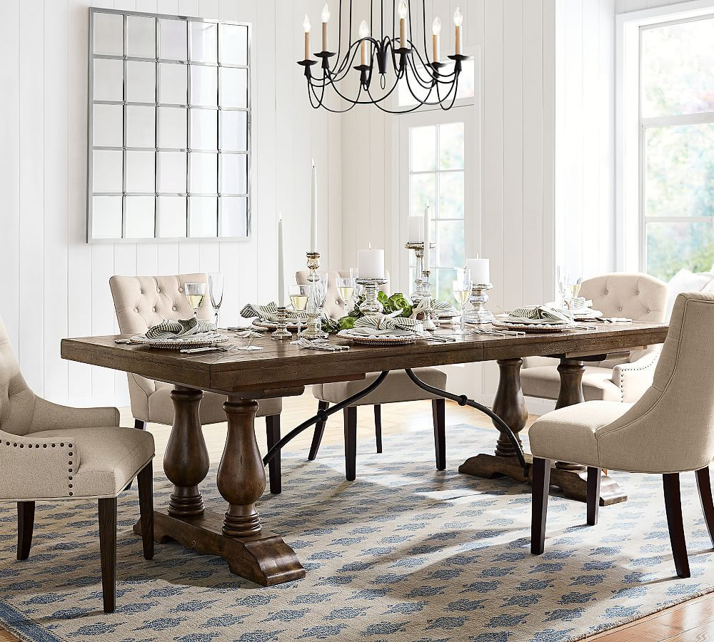 Well Known Hewn Oak Lorraine Extending Dining Tables Within Lorraine Large Extending Dining Table, Hewn Oak At Pottery (View 2 of 25)