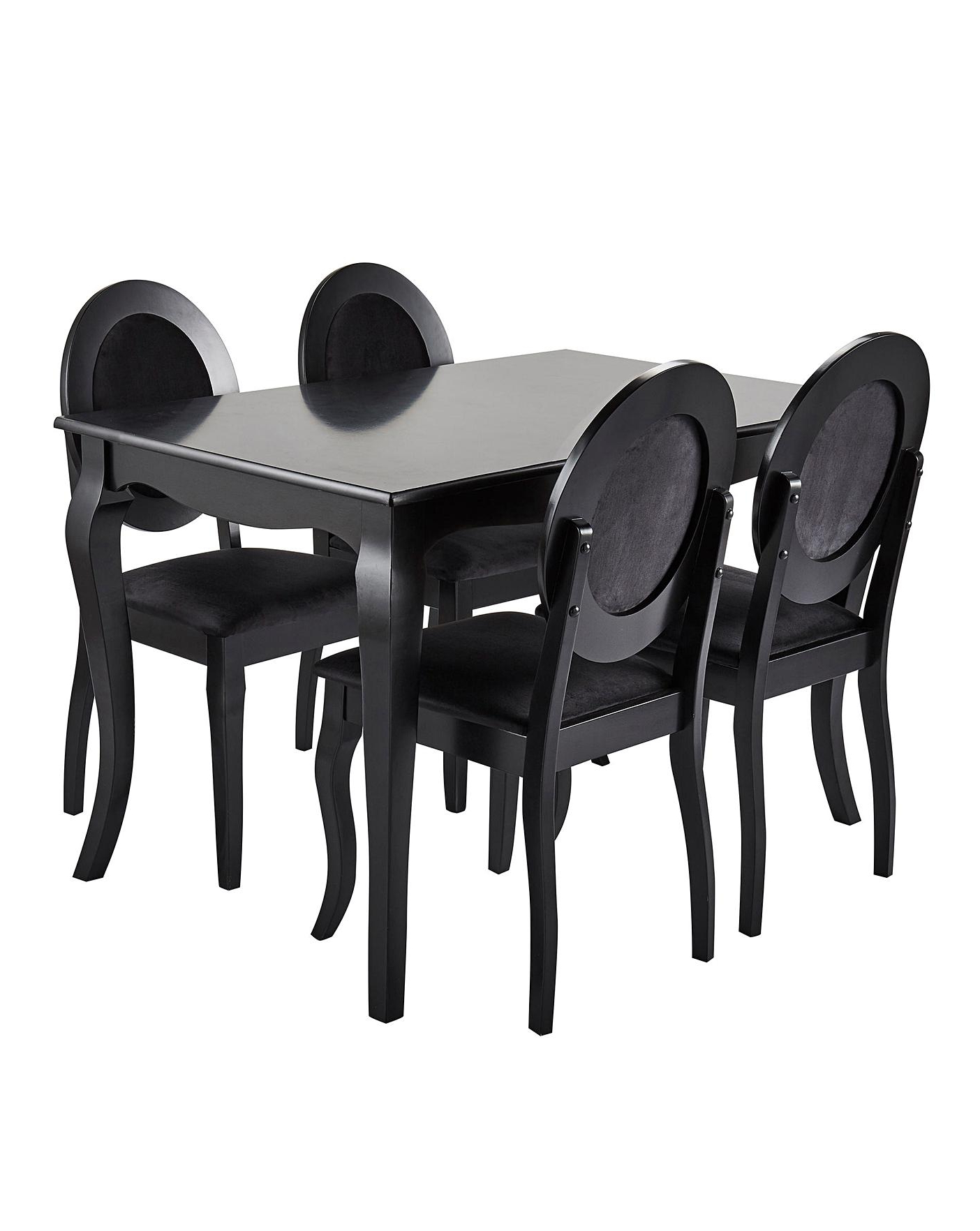 Well Known Kipling Rectangular Dining Tables Within Elise Rectangular Dining Table 4 Chairs (View 15 of 25)