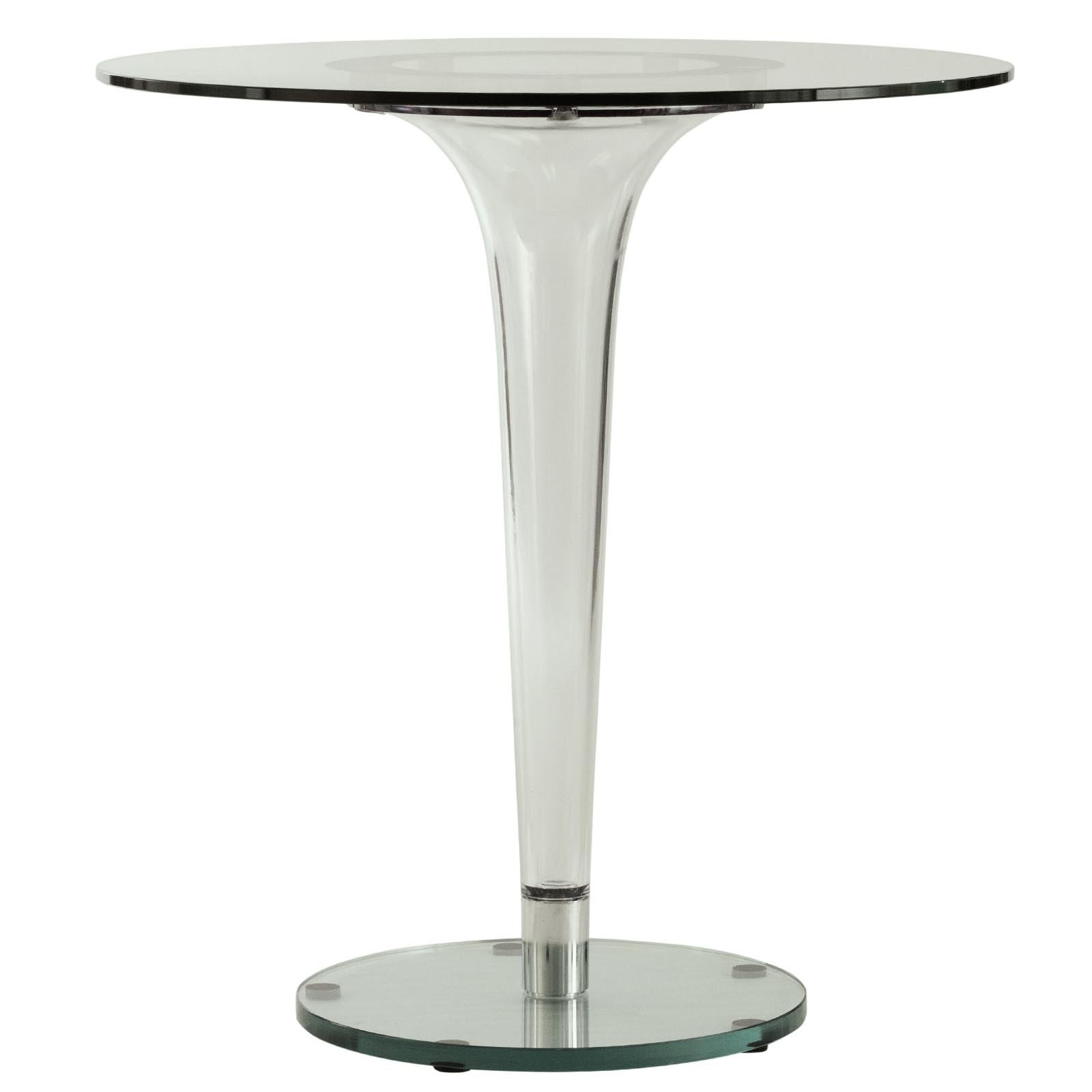 Well Known Leisuremod Linden Modern 28 Inch Round Glass Accent Dining Table – Clear –  27X27 For Linden Round Pedestal Dining Tables (View 12 of 25)