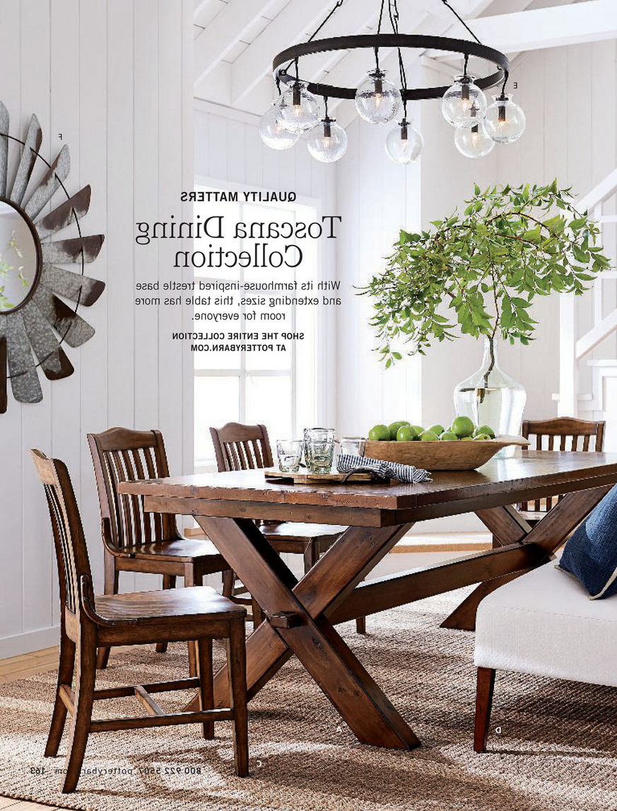 Well Known Pottery Barn – Spring 2018 D1 – Toscana Extending Dining With Tuscan Chestnut Toscana Dining Tables (View 12 of 25)