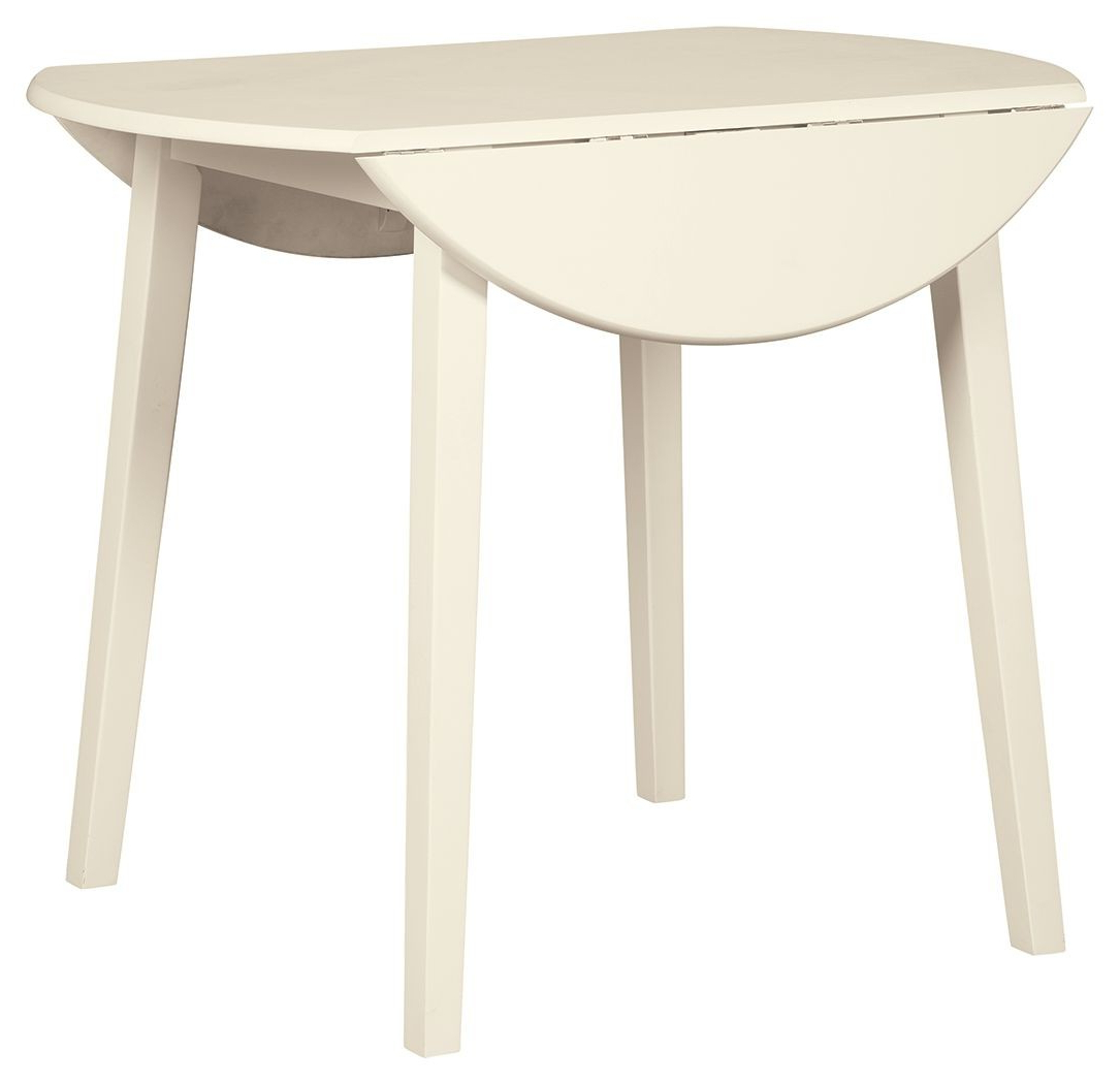 Well Liked Antique White Shayne Drop Leaf Kitchen Tables In White Round Drop Leaf Table – Martinique (View 19 of 25)